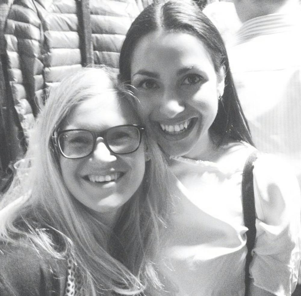 Me and my friend Line after Emilie Nicolas' concert in Stavanger a few moths back.