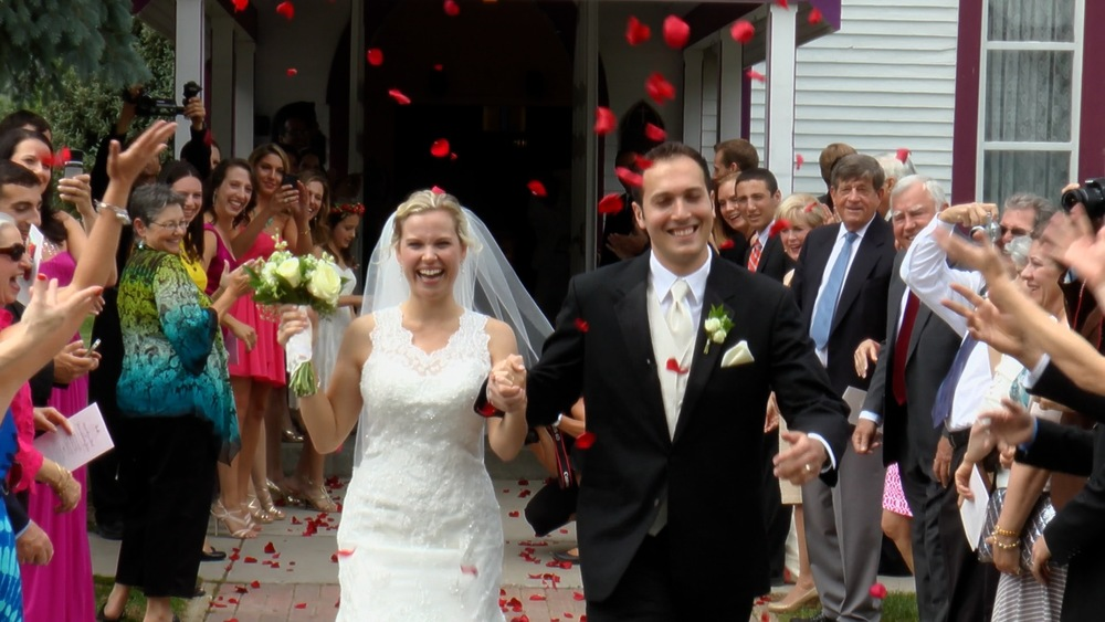 Screenshot from wedding video
