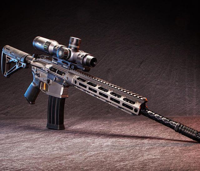"@moderncarbine MC6 5.56mm 16"" Hex-Fluted. Seen here with new @kineticdevelopmentgroup SideLok QD optic mount and @sigsauerinc 6x optic #modernoutfitters #moderncarbine #hexbarrel #guns #hunting #shooting #rifles #mc6 @ahouser56"