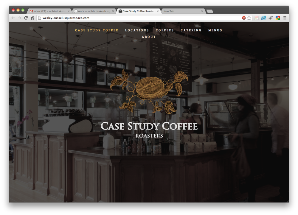 upcoming Case Study Coffee website and branding project