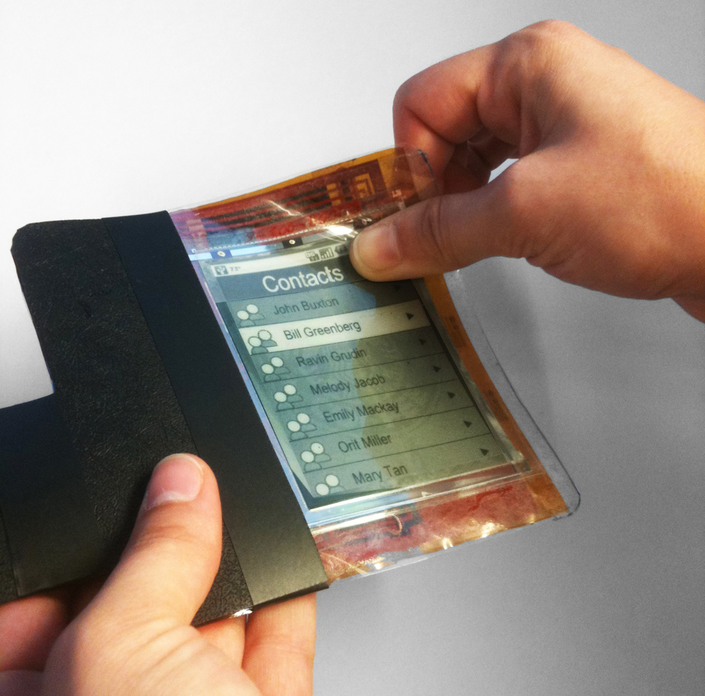 paperphone (2011) first flexible smartphone