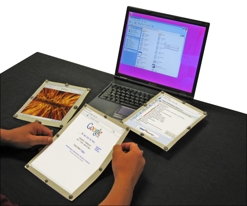 paperwindows (2005) first wireless, flexible paper computer