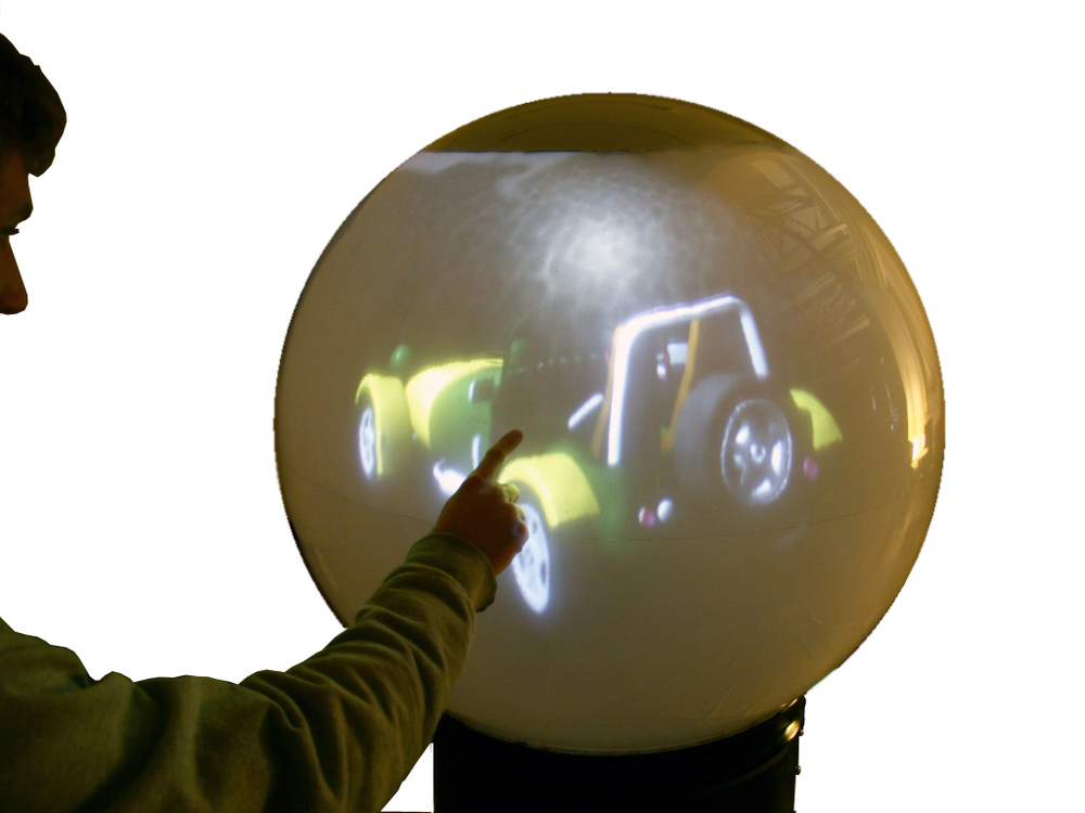 snowglobe (2009) multitouch spherical computer