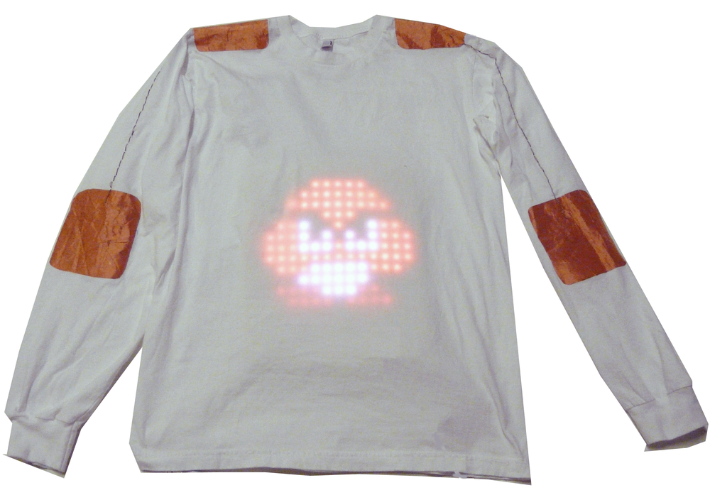 shirt with touch enabled lumalive display