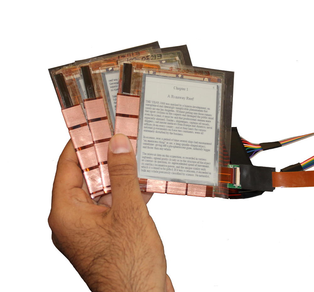 displaystacks (2012) interaction techniques for multiple stacked flexible displays