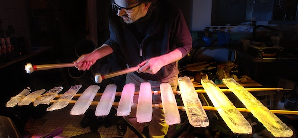 Steve Mann will perform his ice mallets on Sunday evening