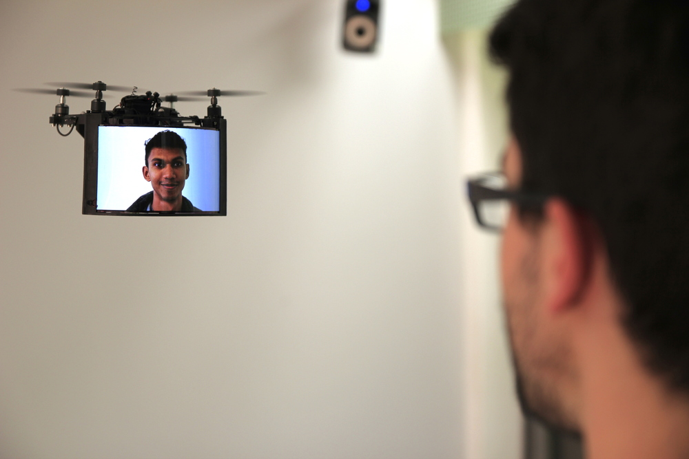 BitDrones (2015): TelePresence through a DisplayDrone with Skype.
