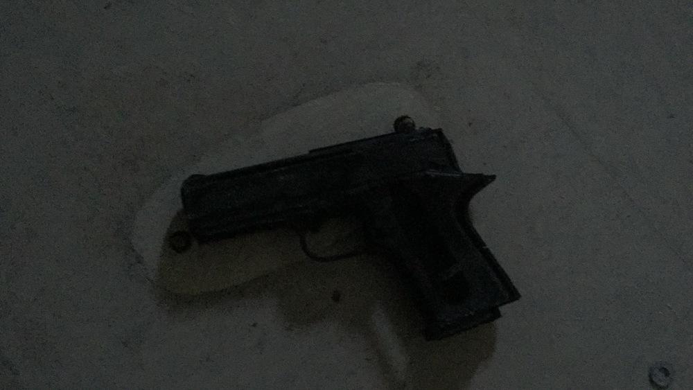 Gun found in the auditorium.