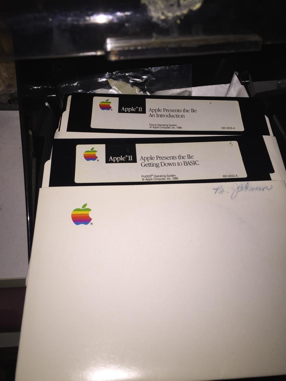 apple ii floppy discs