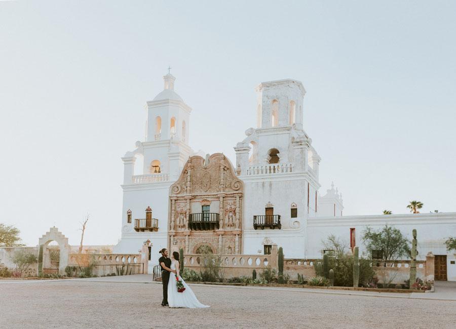 Sara + Arturo Trapaga | Tucson Spanish mission Elopement