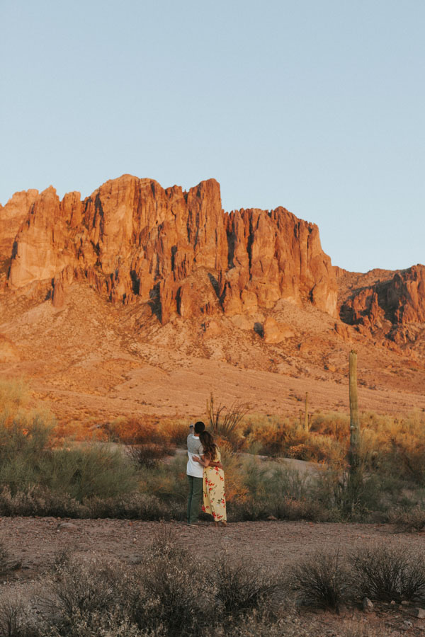 Superstition Mountains Couple Photos