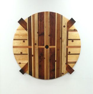 """Shield"" salvaged wood, 43x43"", 2012"