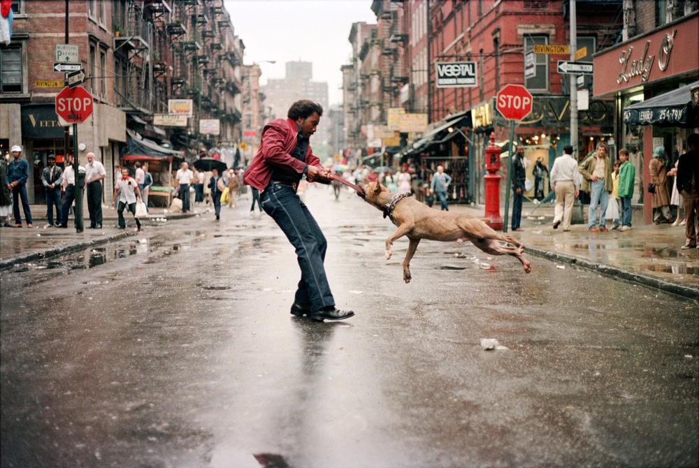 Man and Dog, New York City, 1980 © Jamel Shabazz