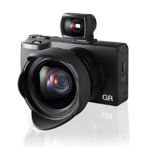 Ricoh GR current specs:16 Megapixel APS-C size CMOS Image Sensor;GR ENGINE V & Anti-Aliasing filterless Design;Newly designed, 9 blade diaphragm, 28mm F2.8;High Speed Auto Focus System with Continuous shooting