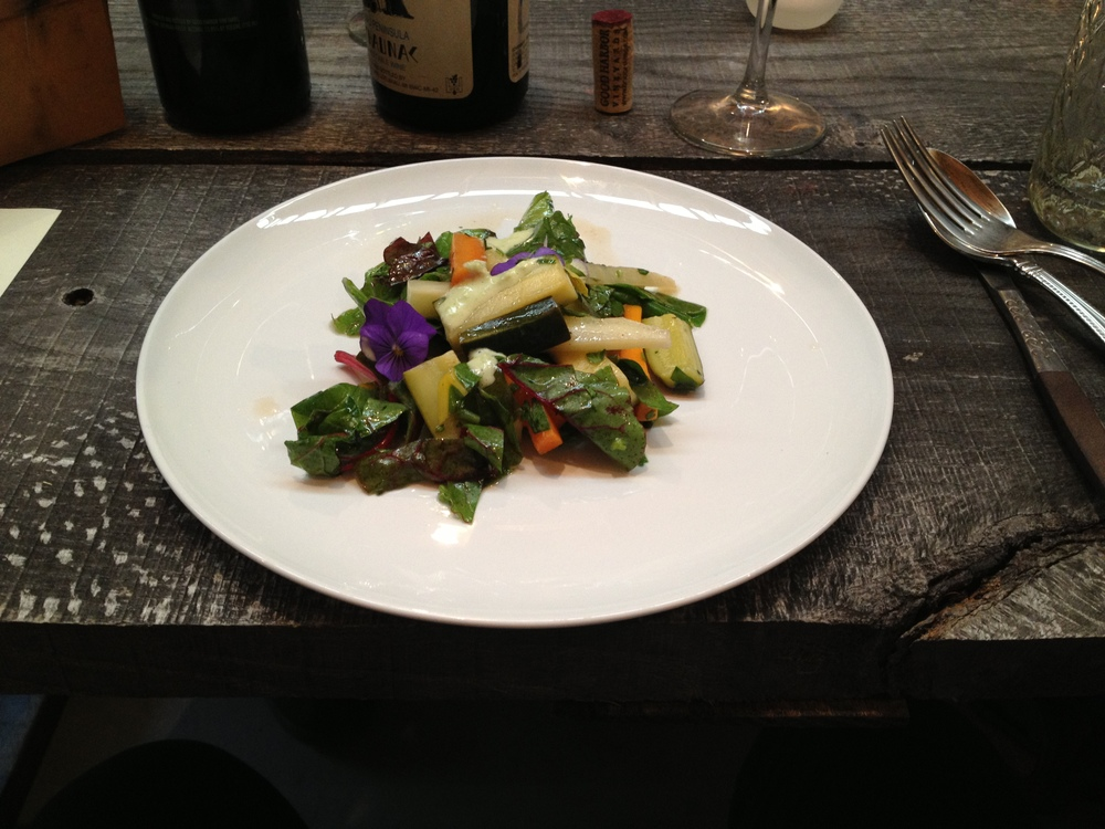 White Wine Poached Veggies with Chard