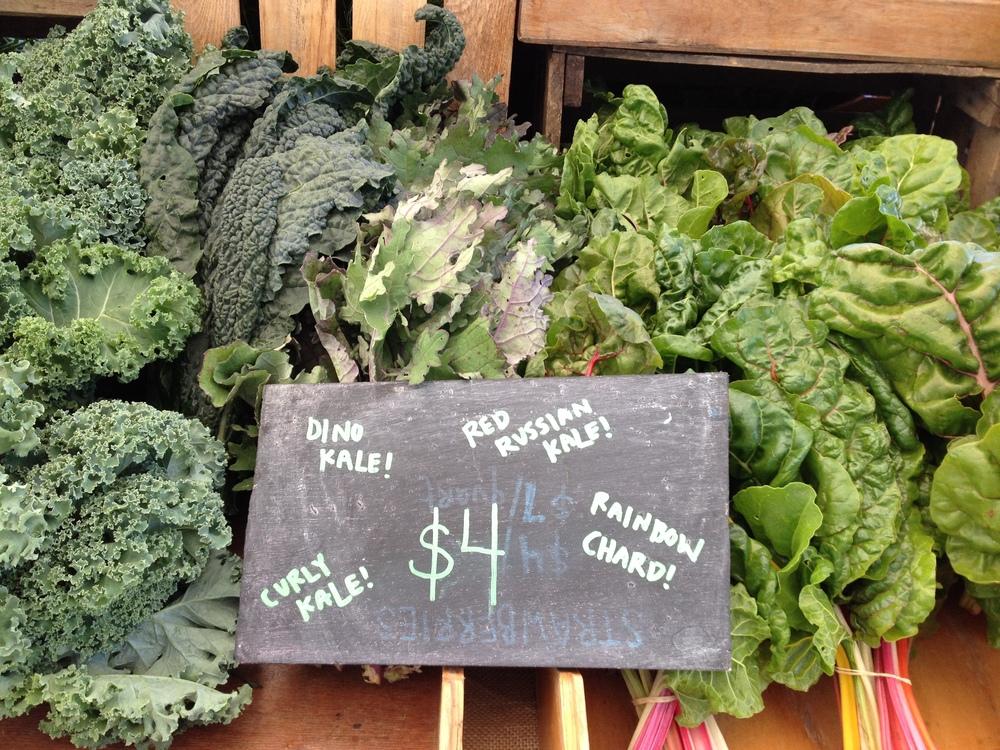 Market Greens Display