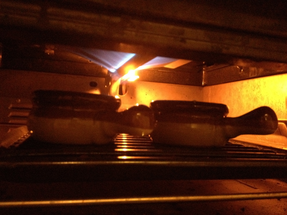 French Onion Soup under the broiler