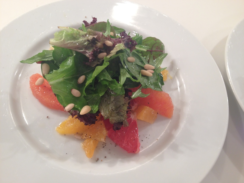 Citrus Salad with Greens and some Pinenuts
