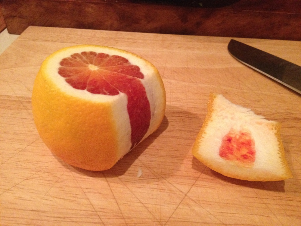 Peeling Citrus with a Knive