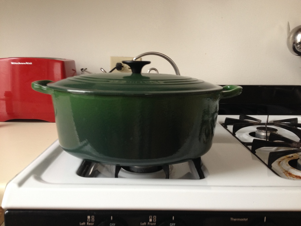 Good braising pot needs to go from stovetop to oven and have a tight fitting lid