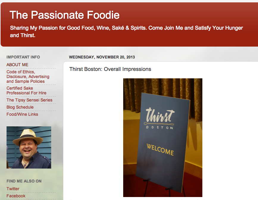 The Passionate Foodie Nov 20, 2013