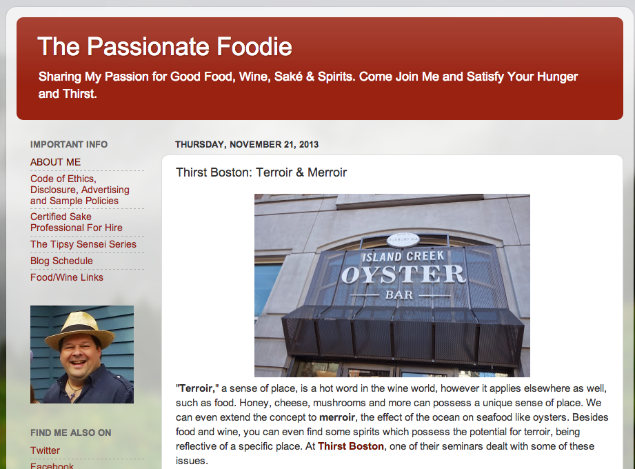 The Passionate Foodie Nov. 21, 201