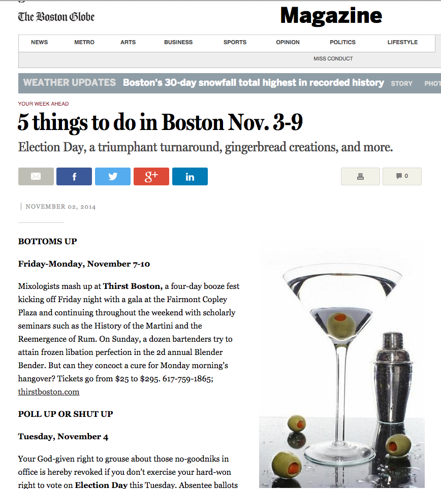 Boston Magazine Nov 02, 2014