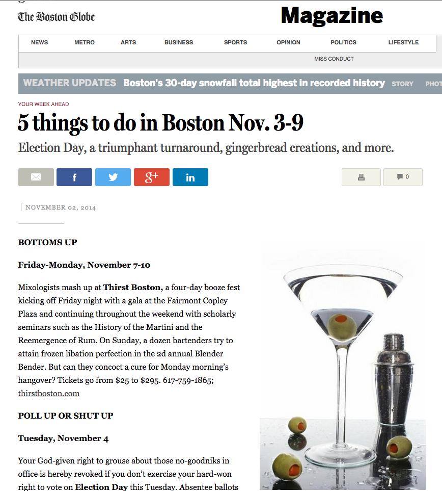 Boston Magazine Nov 02, 2014