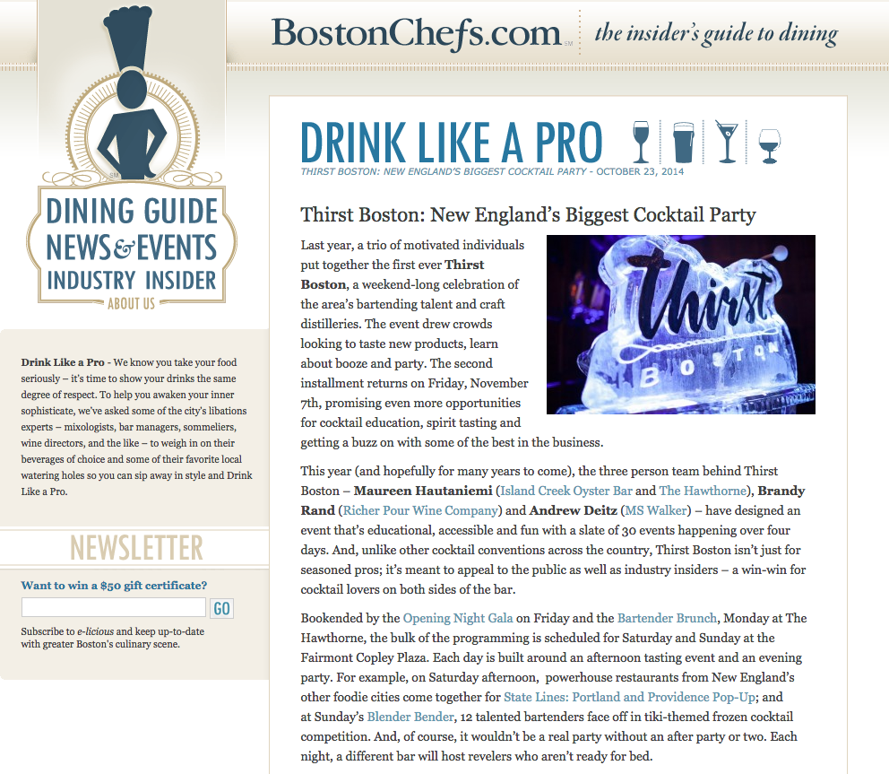 Boston Chefs Oct 23, 2014
