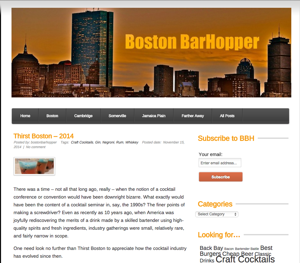 Boston Barhopper Nov 15, 2014