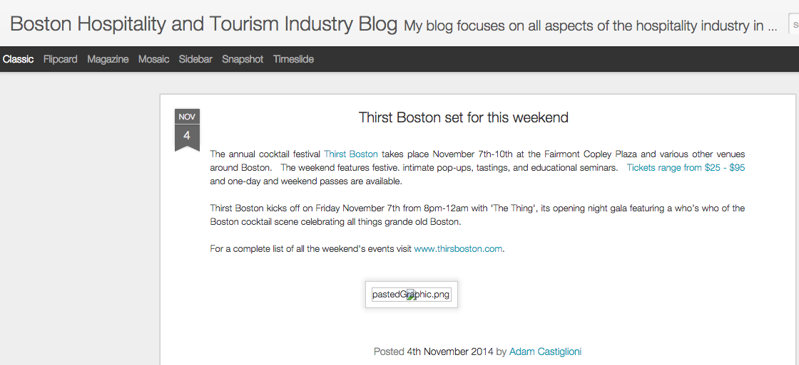 Boston Hospitality Blog Nov 04, 2014