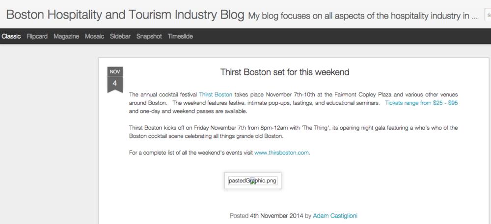 Boston Hospitality Blog Nov 04, 2014