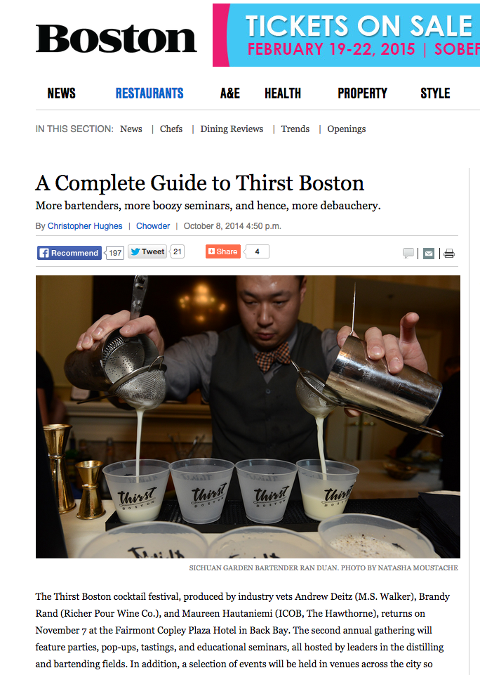 Boston Magazine Oct 08, 2014