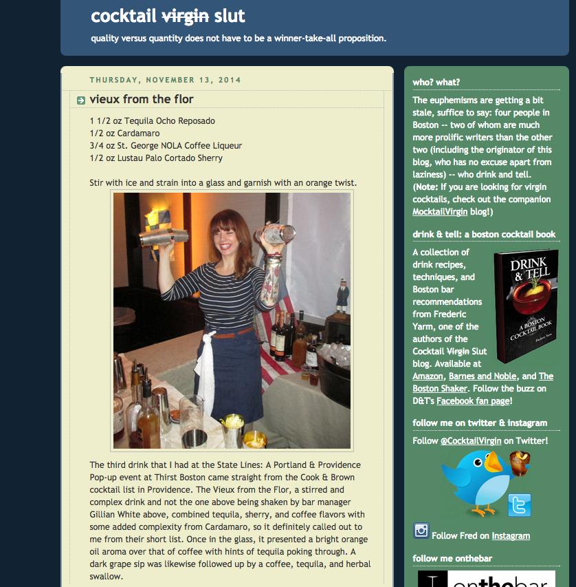 Cocktail Virgin Slut Nov 13, 2014