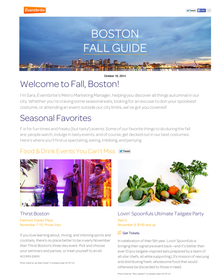 Eventbrite Newsletter Oct 10, 2014