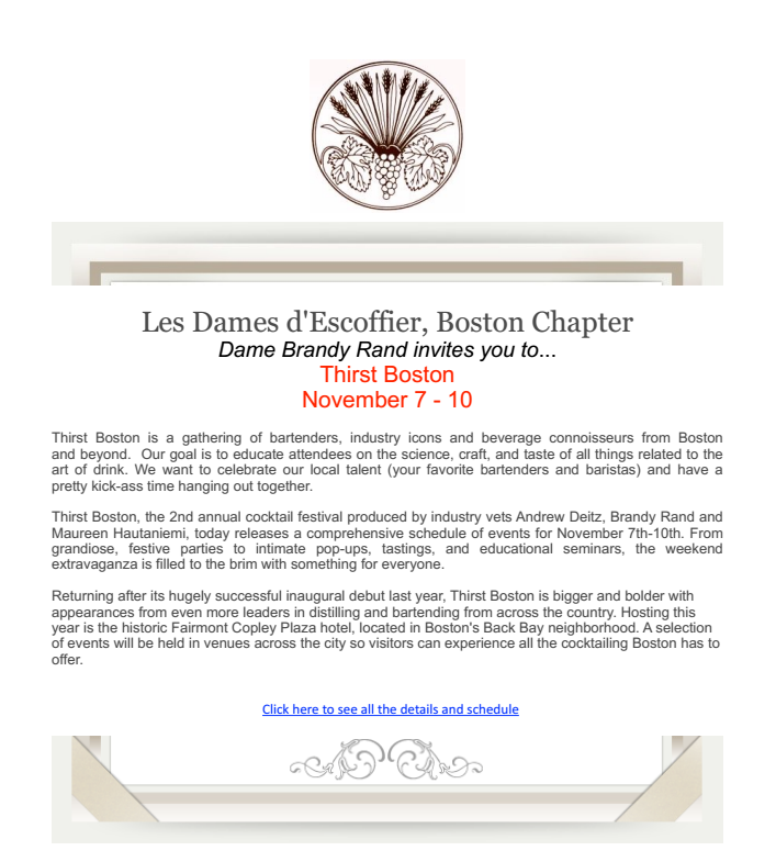 Les Dames d'Escoffier - Newsletter Oct 11, 2014
