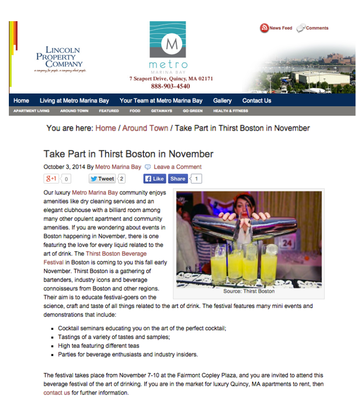 Metro Marina Bay - Newsletter Oct 03, 2014