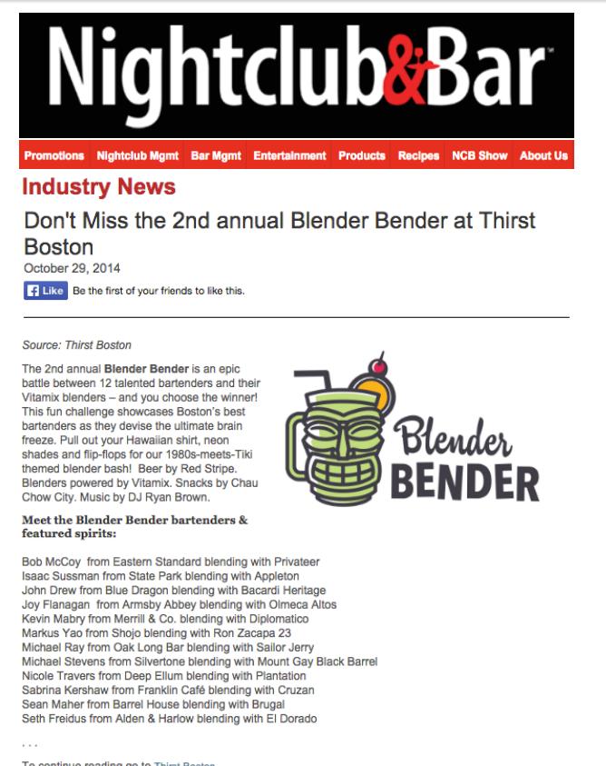 Nightclub & Bar Oct 29, 2014