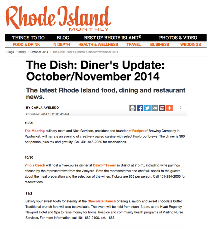 Rhode Island Monthly Oct 2014