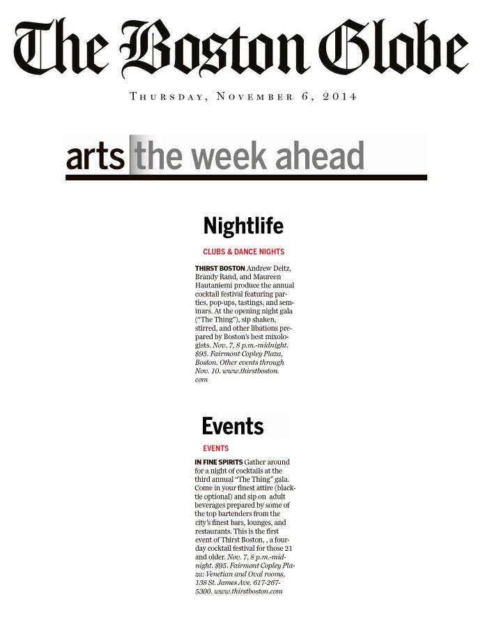 Boston Globe Nov 06, 2014
