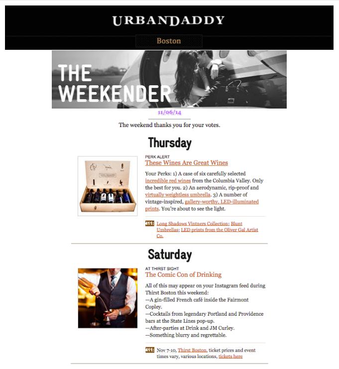 Urbandaddy - Weekender Nov 06, 2014