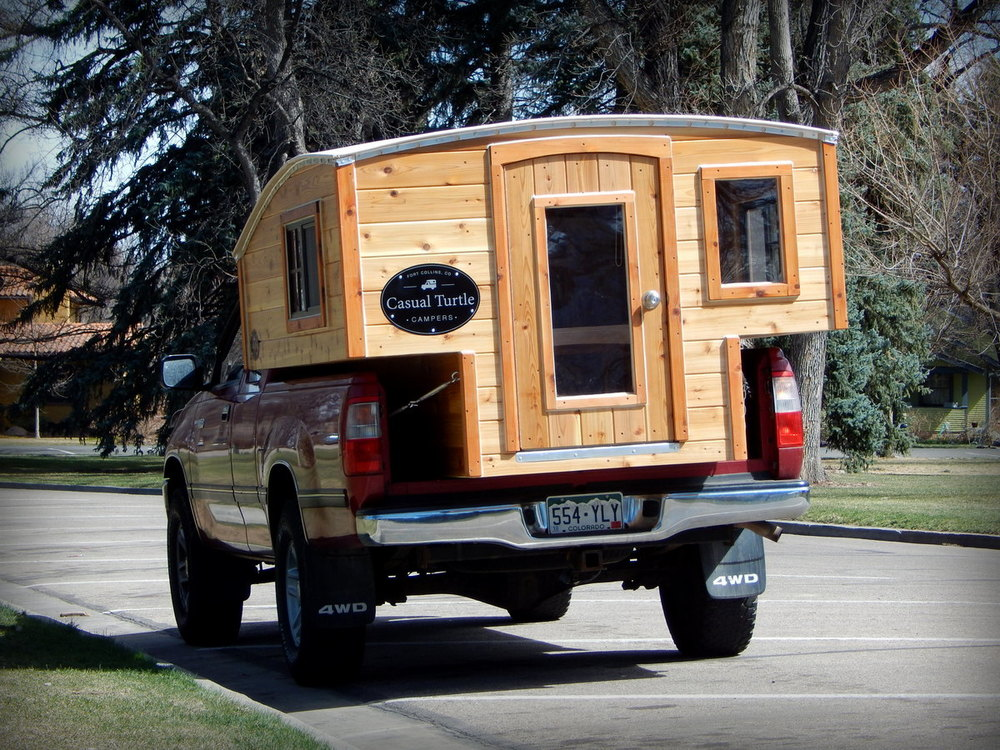 Wood Truck Tops ~ Half shell — casual turtle campers