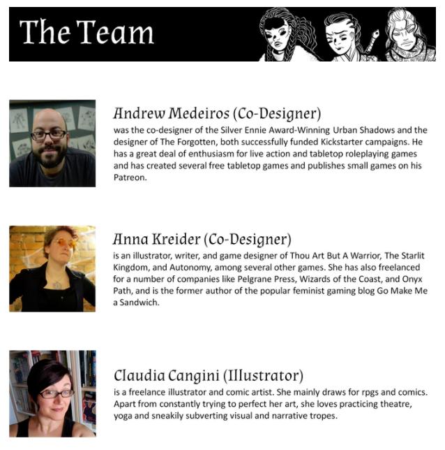 KickStarter Creative Team