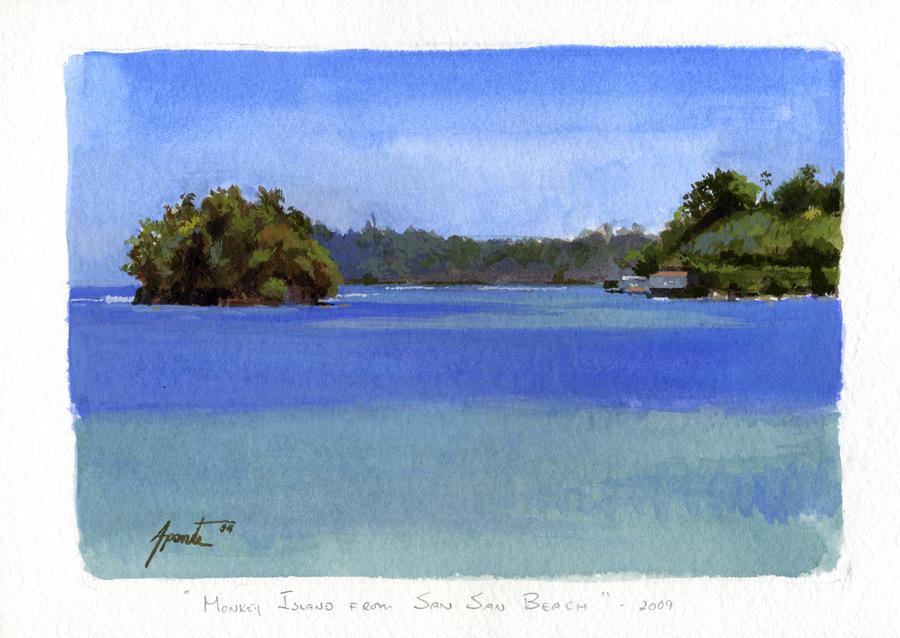 Monkey Island from San San Beach