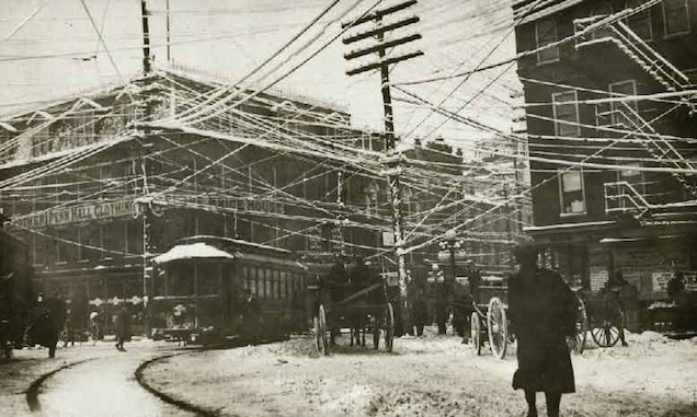 Wires over New York, 1887, via Retronaut, retrieved from <http://tinyurl.com/kb9dns2>