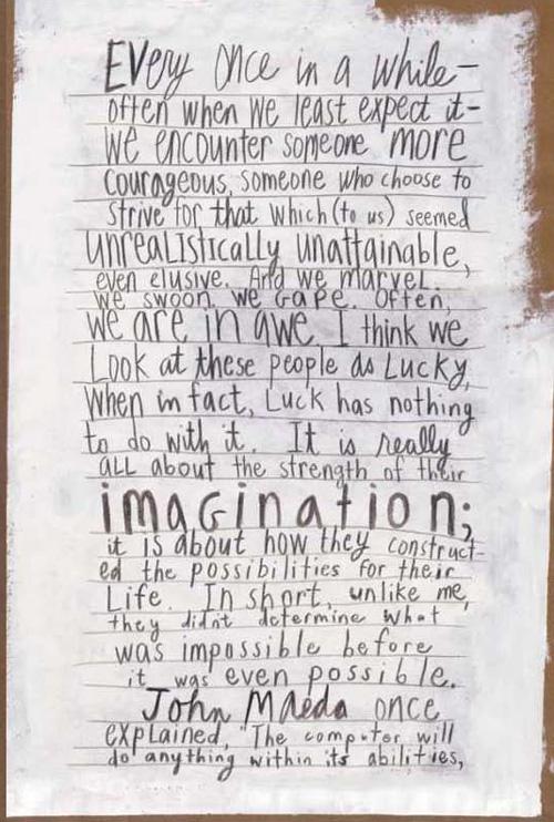Excerpt from Debbie Millman's 'Look Both Ways'. Taken from Brainpickings website.