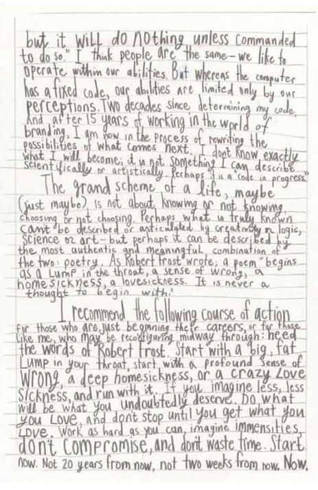 Excerpt from Debbie Millman's 'Look Both Ways'. Taken from Brainpickings.