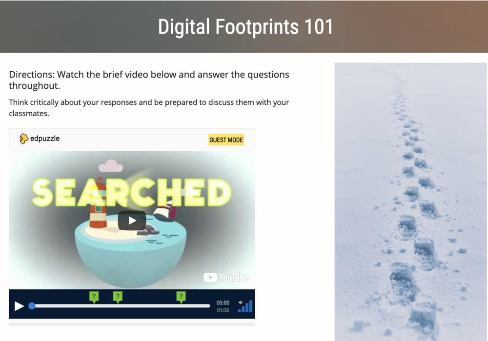 CEP 816: Digital Footprints Unit