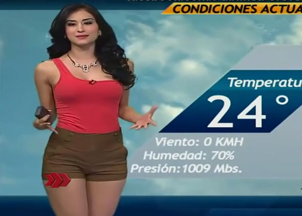 With you Hot latina weather girls with