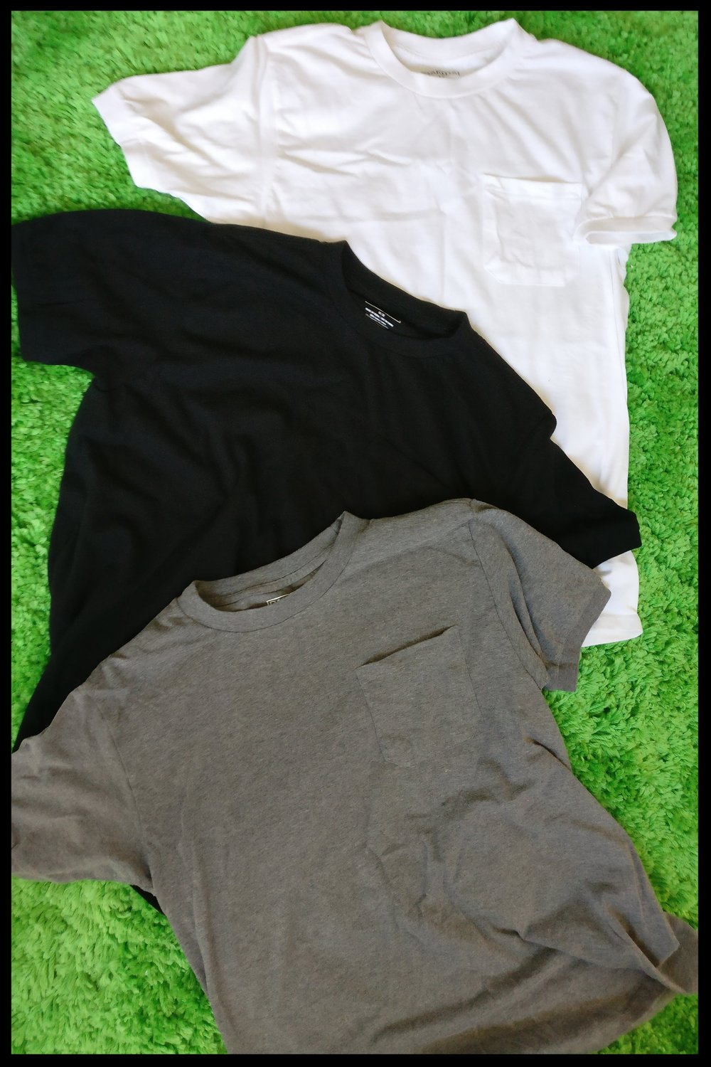 White, Black and Grey t-shirts. My daily drivers in LATAM. Also got 'em in blue, green and brown.